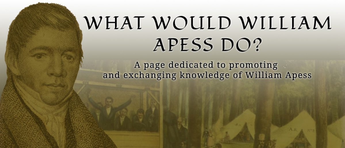 WHAT WOULD WILLIAM APESS DO?